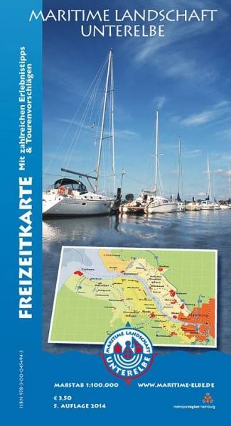 Freizeitkarte Maritime Landschaft Unterelbe
