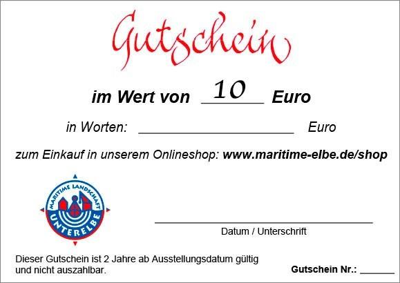 Geschenkgutschein 10 €