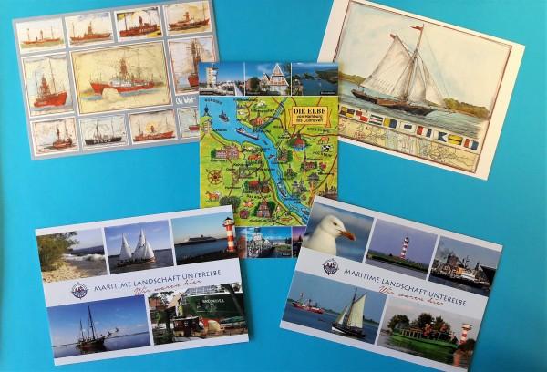 "Postkarten Set ""Maritim"""