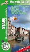 Stade - Offizielle Pocket-Rad-, Reit- u. Wanderkarte