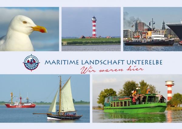 Postkarte Maritime Landschaft - Möwe