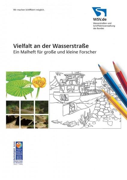 Malbuch - Vielfalt an der Wasserstraße