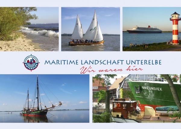 Postkarte Maritime Landschaft - Strand