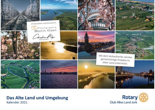 Das Alte Land und Umgebung aus der Luft - Rotary Kalender 2021